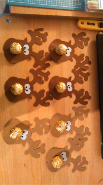Rudolph Mit Ferrero Rocher Nase Basteln Weihnachten Rocher Basteln Weihnachten Basteln Weihnachten Papier