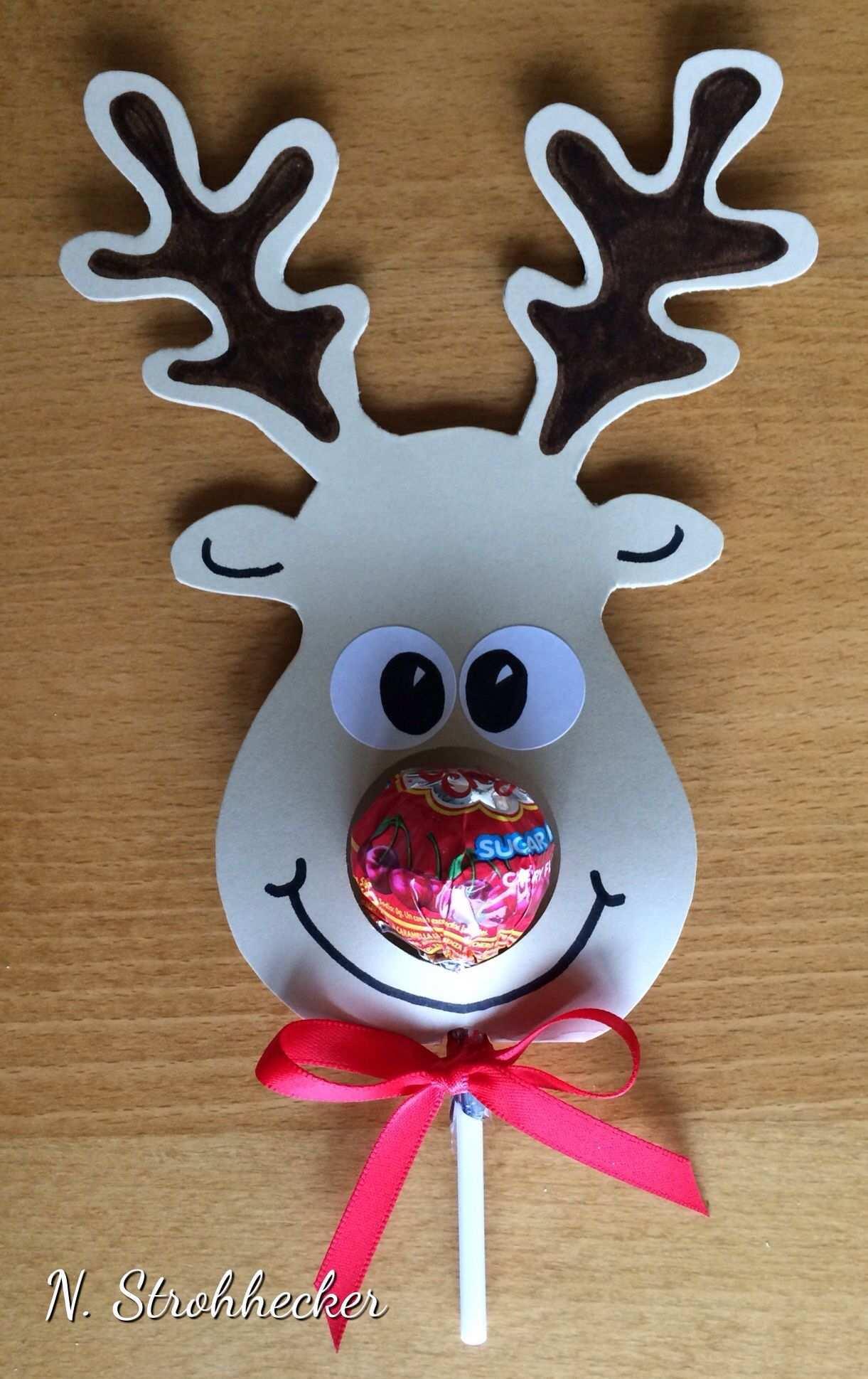 Renne Sucette Basteln Weihnachten Geschenke Zu Weihnachten Basteln Weihnachtszeit Basteln