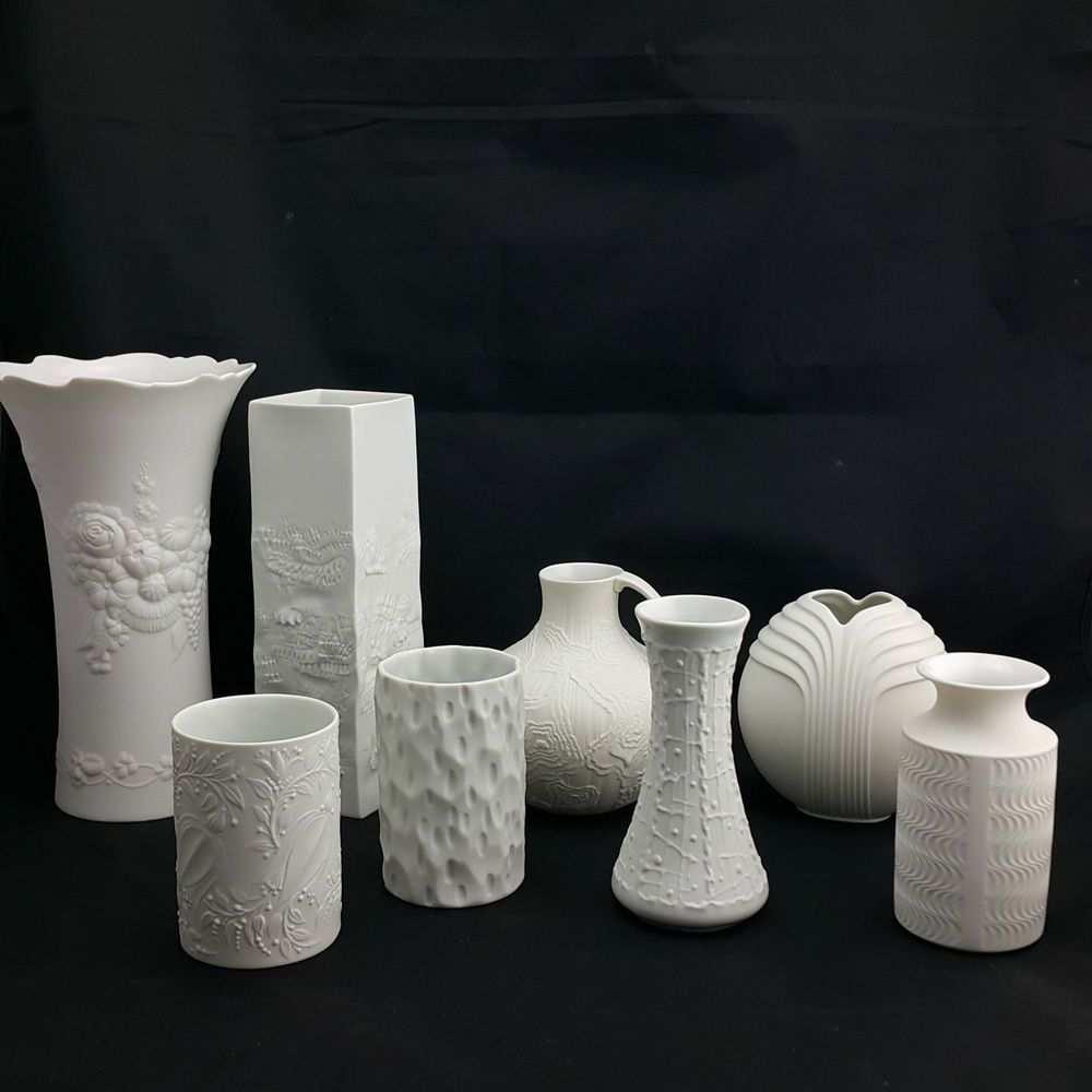 Sammlung Bisquit Porzellan Vasen Weiss Op Art Rosenthal Hutschenreuther Thomas Ebay Vase Vase Weiss Op Art