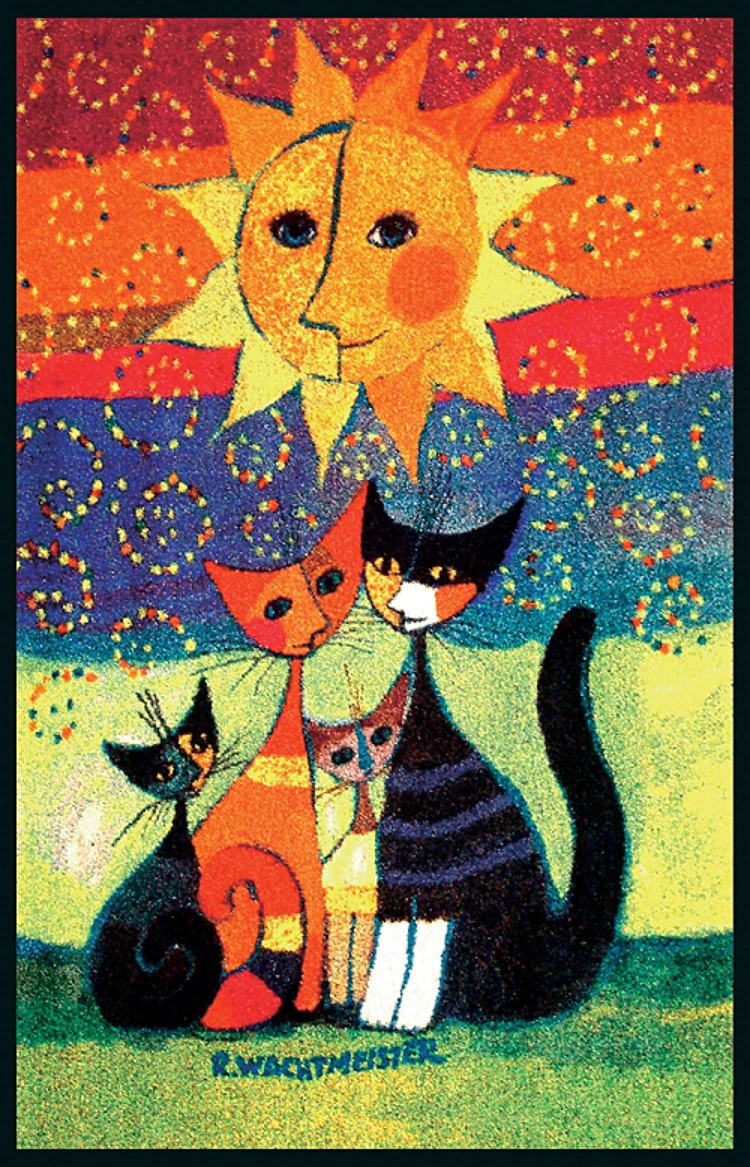 Fussmatte Momenti Rosina Wachtmeister Gunstig Lehner Versand Kattenschilderijen Kattenkunst Katten