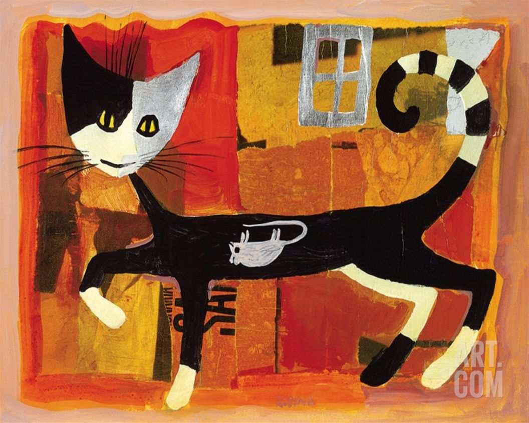Ivano And Mouse Rosina Wachtmeister Wachtmeister Katzen Kunst