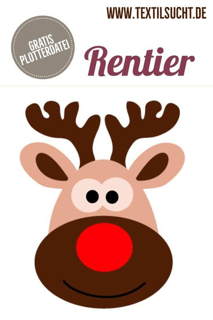 Plotterdatei Rentier Plotterdatei Rentiere Weihnachtskarte Grusse