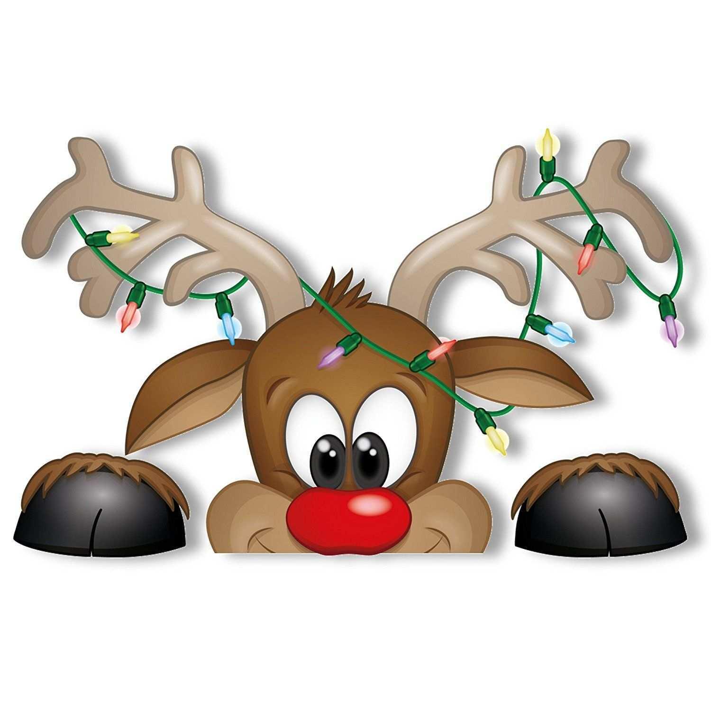 Amazon De Fensterbilder Neugieriger Weihnachtsmann Und Rudolph Das Rentier Mit Fensterbilder Weihnachten Basteln Basteln Weihnachten Weihnachten Zeichnung