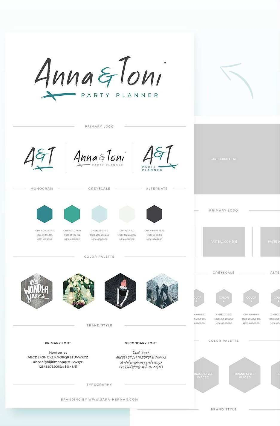 Brand Board Style Tile 5 Branding Design Inspiration Party Planners Logo Logo Design Free