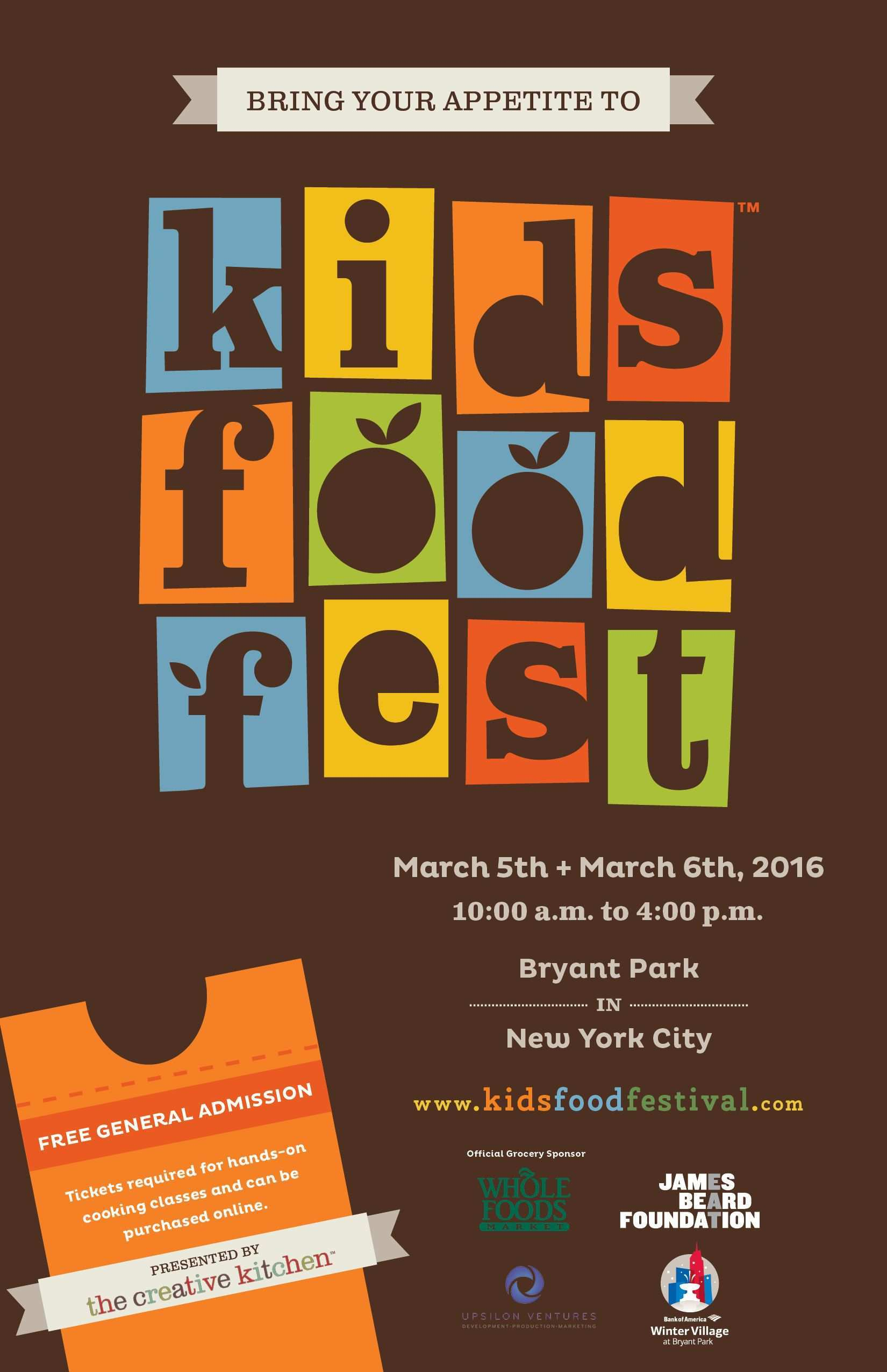 I Like How That This Poster Is Simple But The Theme Is Incorporated Into The Words Logo Though It Is Si Poster Design Kids Food Festival Poster Food Festival