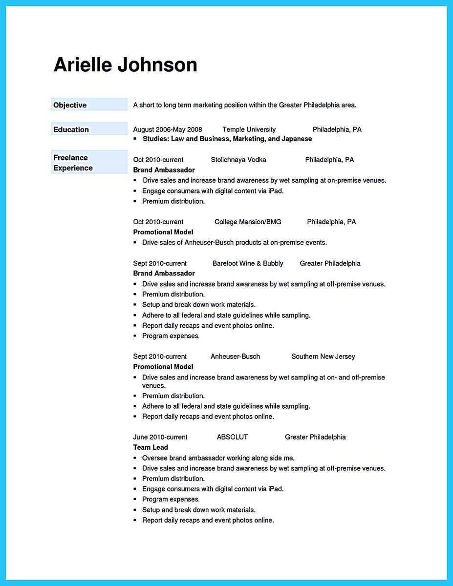 Cool Awesome Secrets To Make The Most Perfect Brand Ambassador Resume Check More At Http Snefci Org Awe Brand Ambassador Jobs Cover Letter For Resume Resume