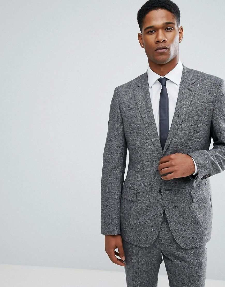 Reiss Schlanke Anzugsjacke In Pfeffer Und Salz Muster Schwarz Jetzt Bestellen Unter Https Mode Ladendirekt De Herren Bekle Herren Mode Sakko Anzug Jacke