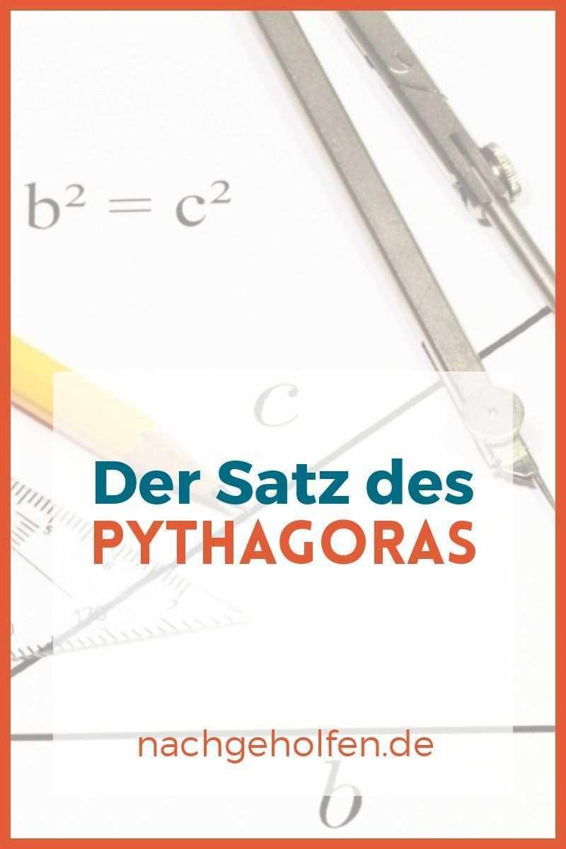 Der Satz Des Pythagoras Trigonometrie Bei Nachgeholfen De Satz Des Pythagoras Trigonometrie Mathematik