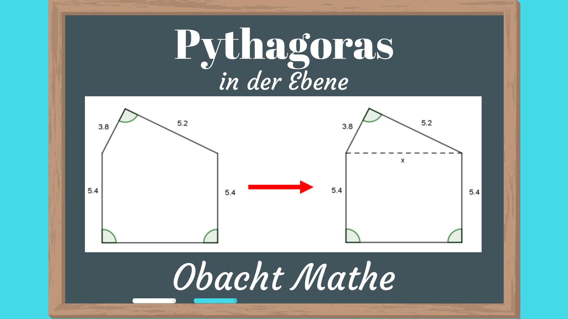 Pythagoras In Der Ebene Einfach Erklart Satz Des Pythagoras Mathe Dreisatz