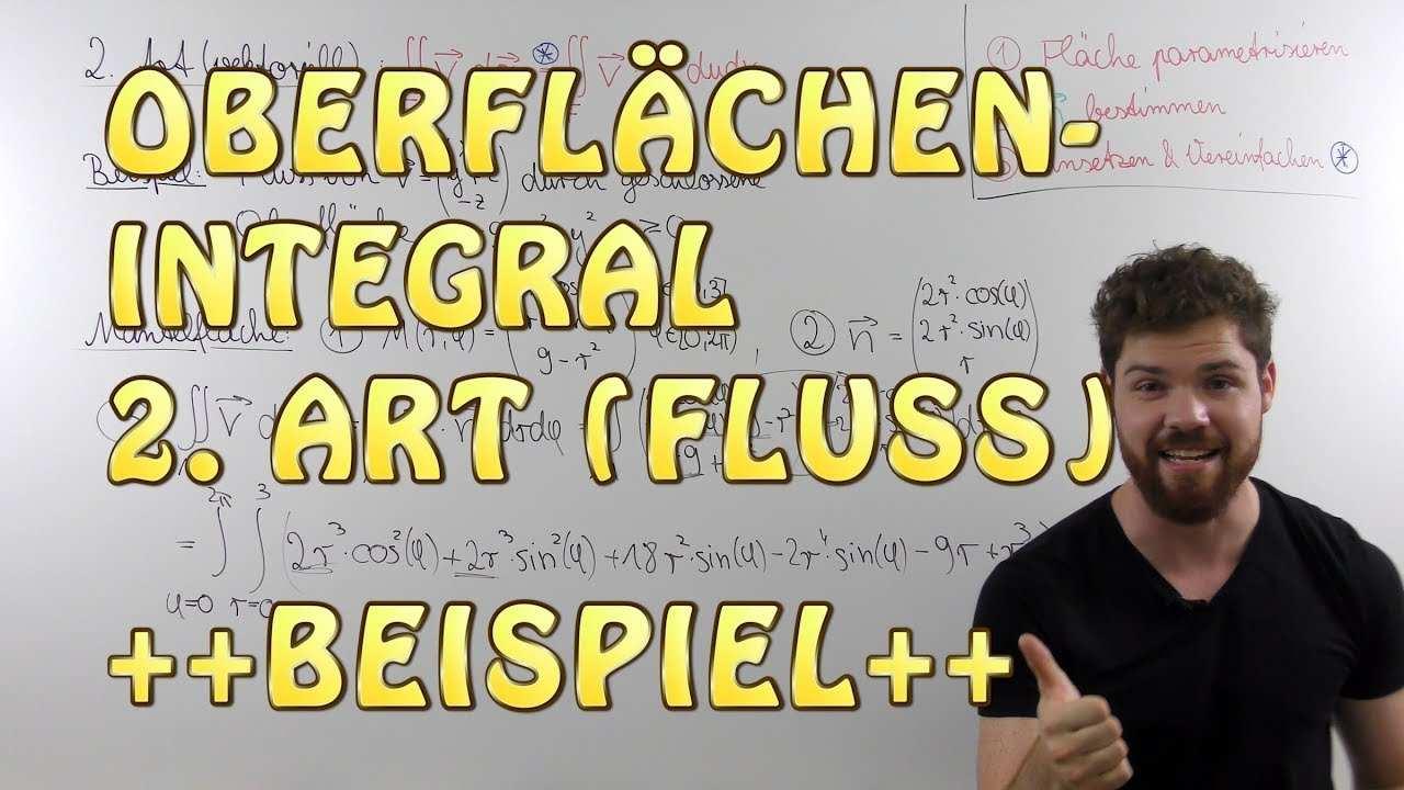 Oberflachenintegral 2 Art Beispiel Teil 1 Flussintegral In Polarkoordinaten Mantelflache Youtube