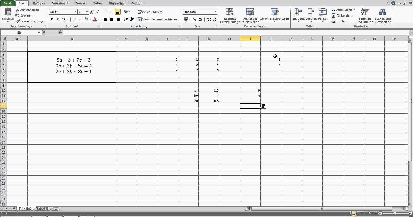 Lineare Gleichungssysteme In Excel Losen Ein Mathe Trick In Excel Mathe Tricks Gleichung Gleichungssysteme