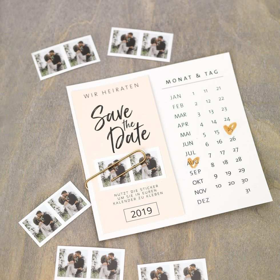 Diy Save The Date Karten Vorlage Mit Kalender Karte Hochzeit Hochzeitseinladung Einladungskarten Hochzeit Selber Machen