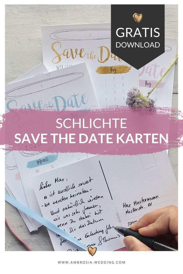 Freebie Schlichte Save The Date Karten Zum Selbst Ausdrucken In 2020 Save The Date Karten Hochzeit Am Meer Heiraten Am Strand