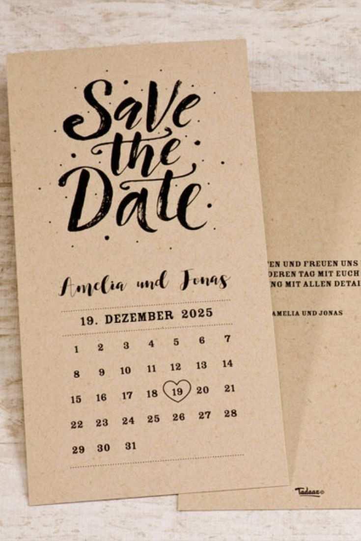 Save The Date Kalender Kraftpapier Hochzeit Tadaaz Save The Date Karten Coole Hochzeitseinladungen Save The Date