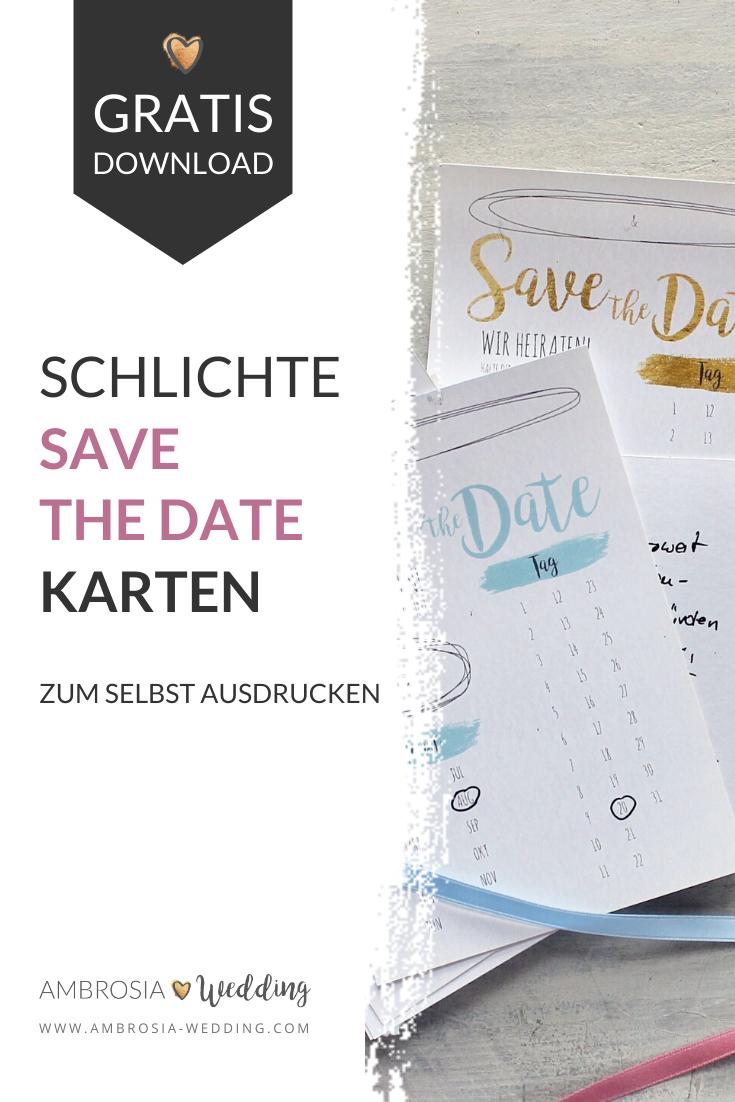 Freebie Schlichte Save The Date Karten Zum Selbst Ausdrucken In 2020 Save The Date Karten Save The Date Ausdrucken