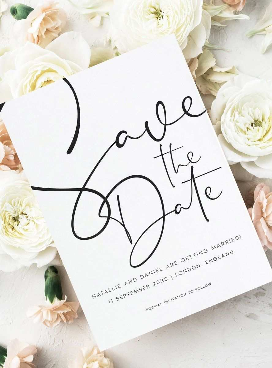 Save The Date Cards For Modern Weddings Blush Wedding Invitations Save The Date Invitations Wedding Saving