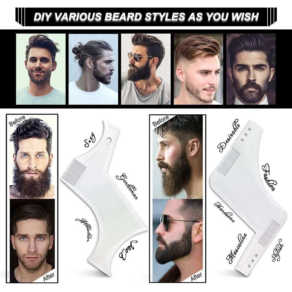 Bart Schablone Fur Das Bartstyling Bart Shaping Werkzeug Vorlage Styling Kammschablone Gesichtsbehaarung Bart Gesicht