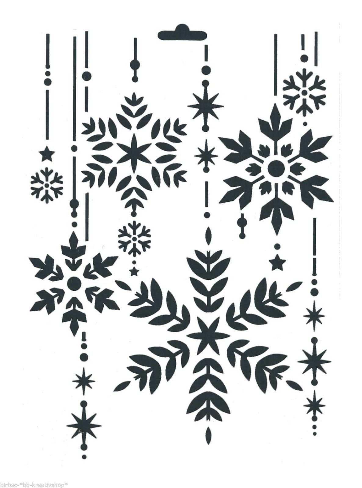 Schablone Heike Schafer Create Yr Fashion Textil Stencil Weihnachten Kristalle Schablonen Weihnachten Weihnachtsschablonen Schablonen