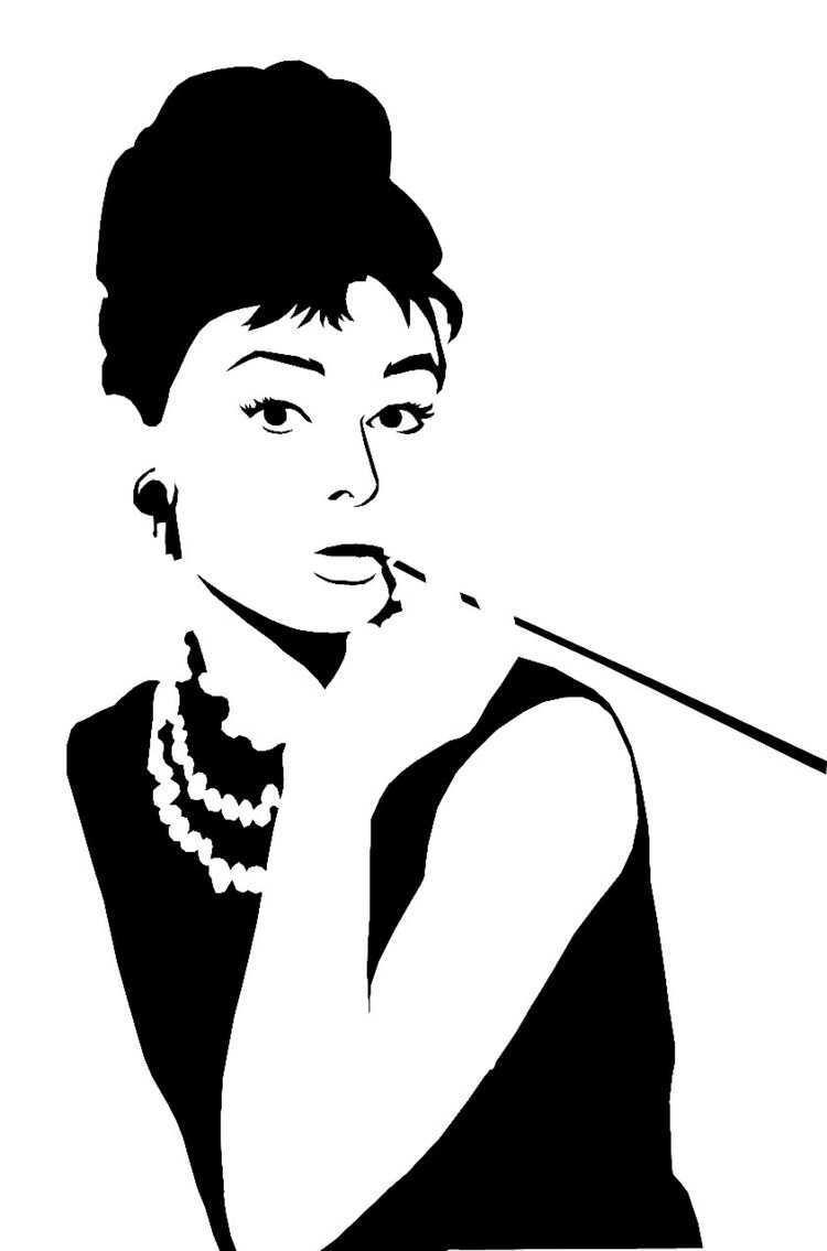 Wandschablonen Ausdrucken Frau Figur Dekoration Wandgestaltung Wandschablonen Schablonen Scherenschnitt Vorlagen