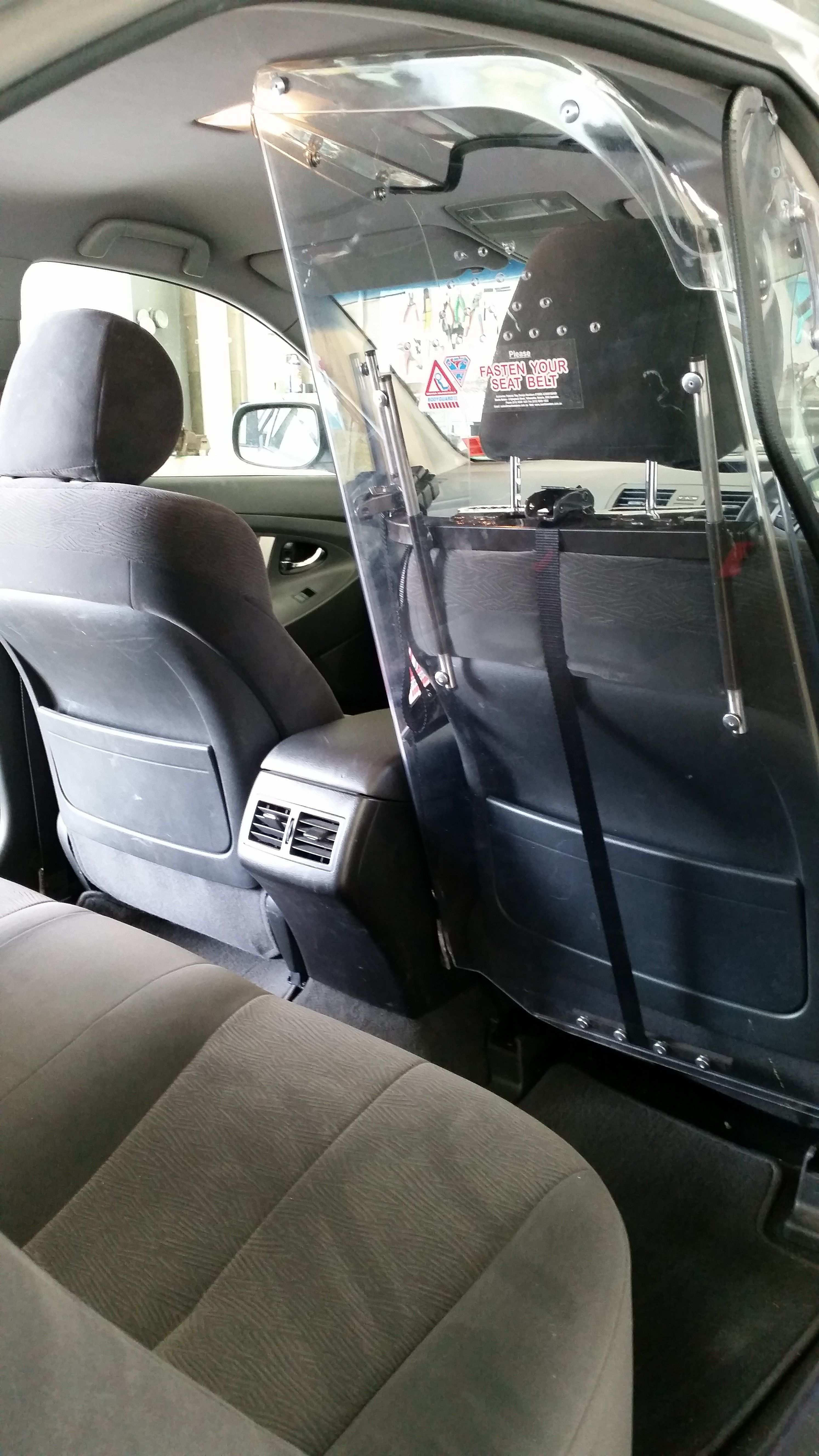 Martin Meters Bodyguard Ii Driver Protection Screen Fitted To 50 Series Toyota Camry Available From Www Ozcabstore Com Au Rideshare Taxi Taxi Driver