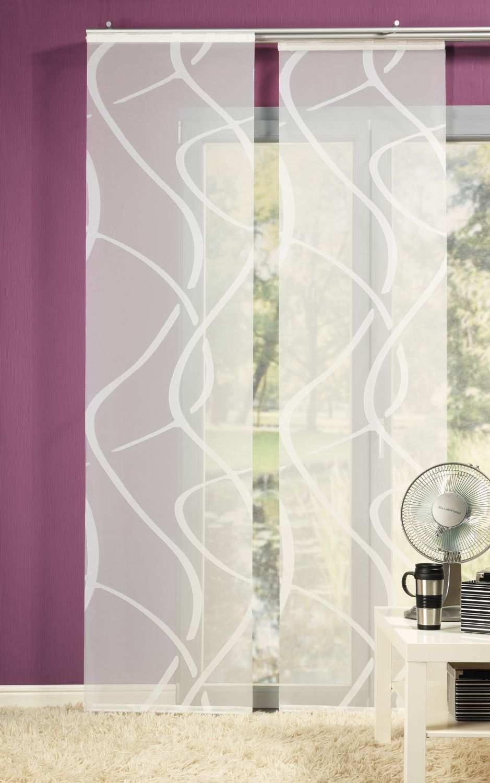 Neutex Flachenvorhang Vegas 245x60cm Wollweiss Romodo Flachenvorhang Vorhange Schiebevorhang