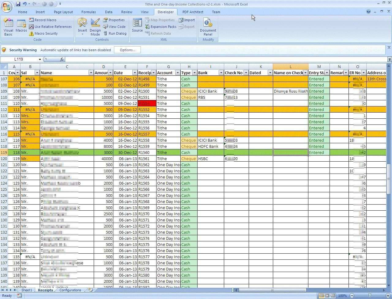 Church Tithe And Offering Spreadsheet Spreadsheet Template Excel Spreadsheets Templates Spreadsheet