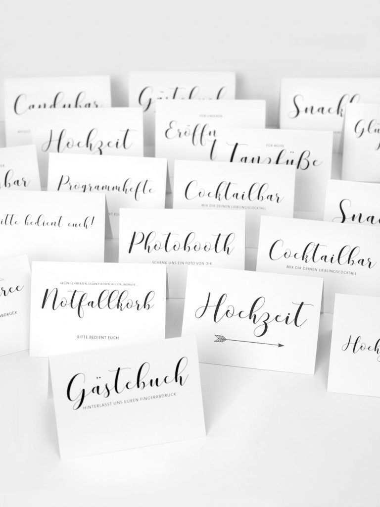 Vorlagen Schilder Hochzeit Karte Hochzeit Hochzeitsschilder Namensschilder Hochzeit