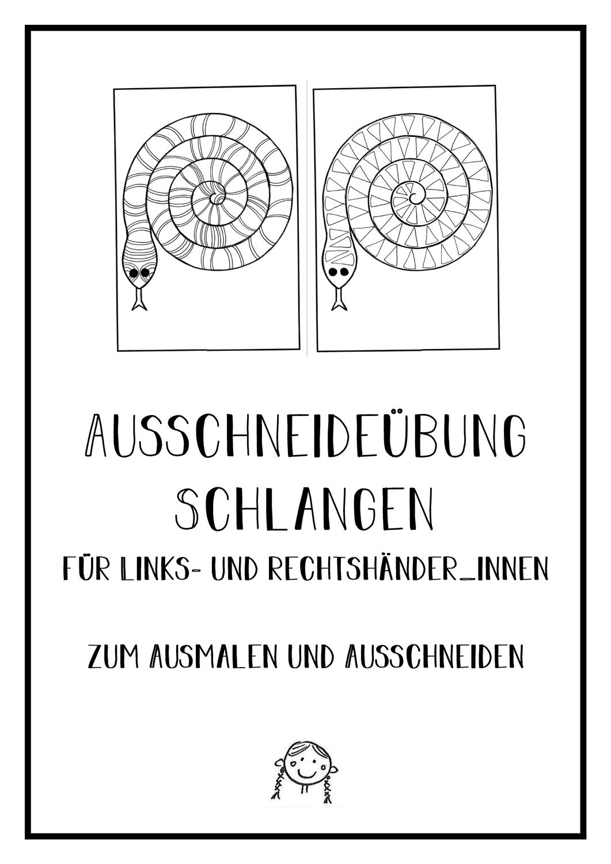 Ausschneideubung Schlangen Zum Ausmalen Und Ausschneiden Unterrichtsmaterial In Den Fachern Deutsch Kunst Ausmalen Ausschneiden Unterrichtsmaterial
