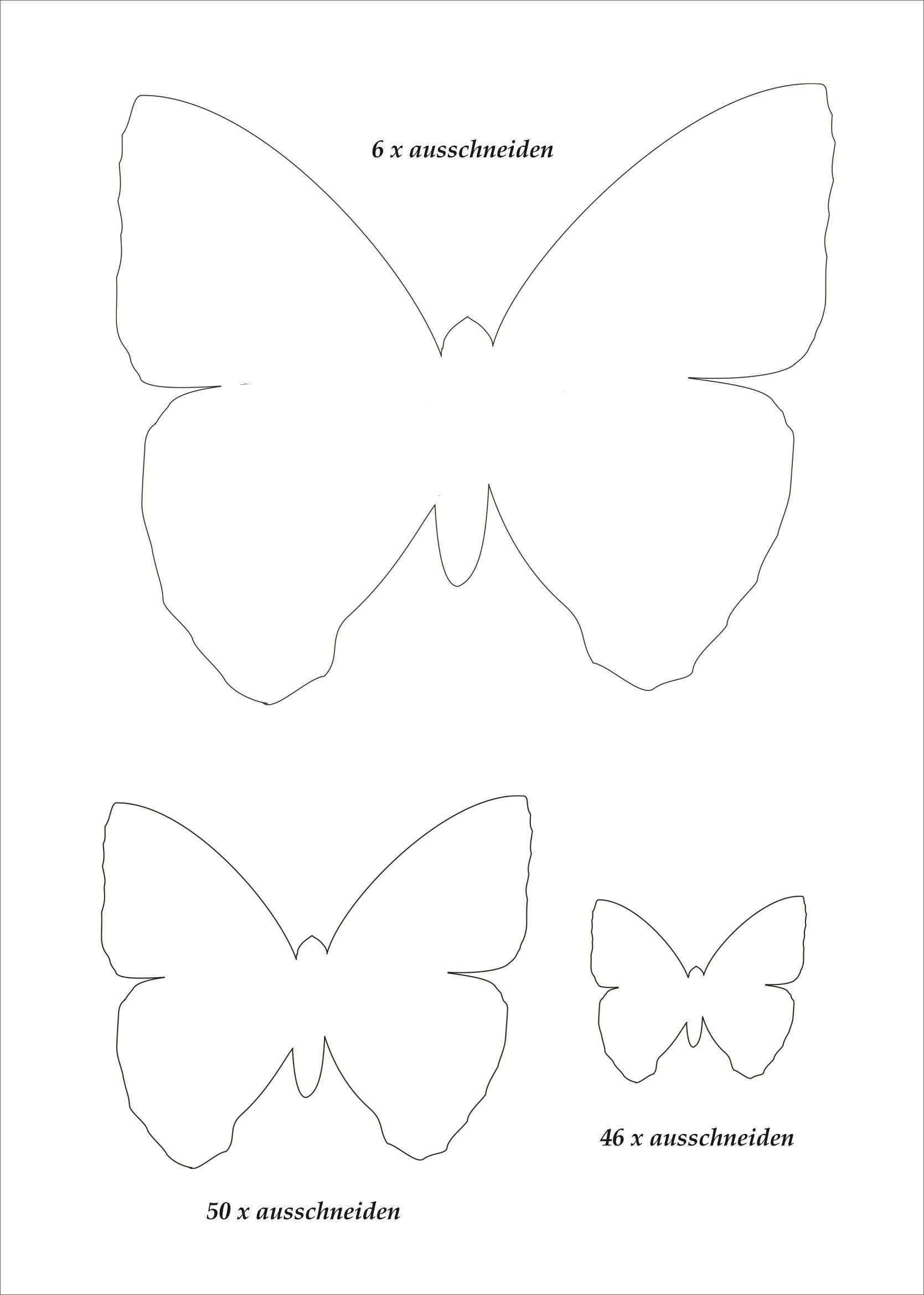 Neu Schmetterling Vorlagen In 2020 Schmetterling Vorlage Papierschmetterlinge Schmetterling Vorlage Basteln