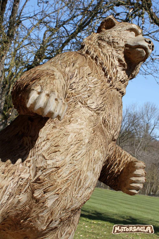 Bar Material Fichte 2m Hohe Ca 460 Kg Bear Carving Grizzly Chainsaw Schnitzen Motorsage Schnitzen Mit Der Kettensage Schnitzen Baum Skulptur