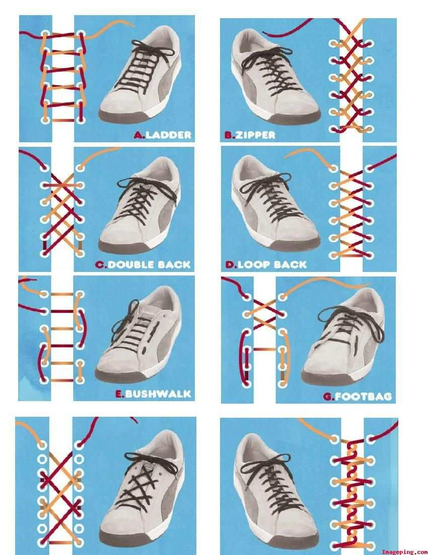Cool Stuff Different Types Of Shoelace Knots Schuhe Binden Schnursenkel Schnursenkel Muster