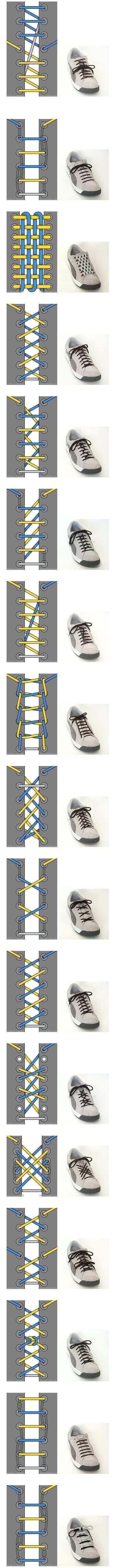 Shoelaceing Schuhbander Schnursenkel Muster Schuhe Binden