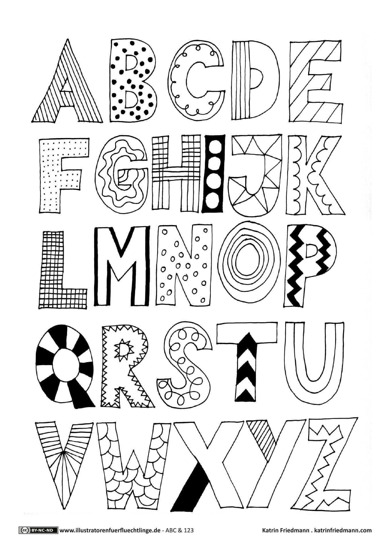 Abc Mit Bildern Handschriftliche Schriften Kreativer Schriftzug Buchstaben Schriftarten