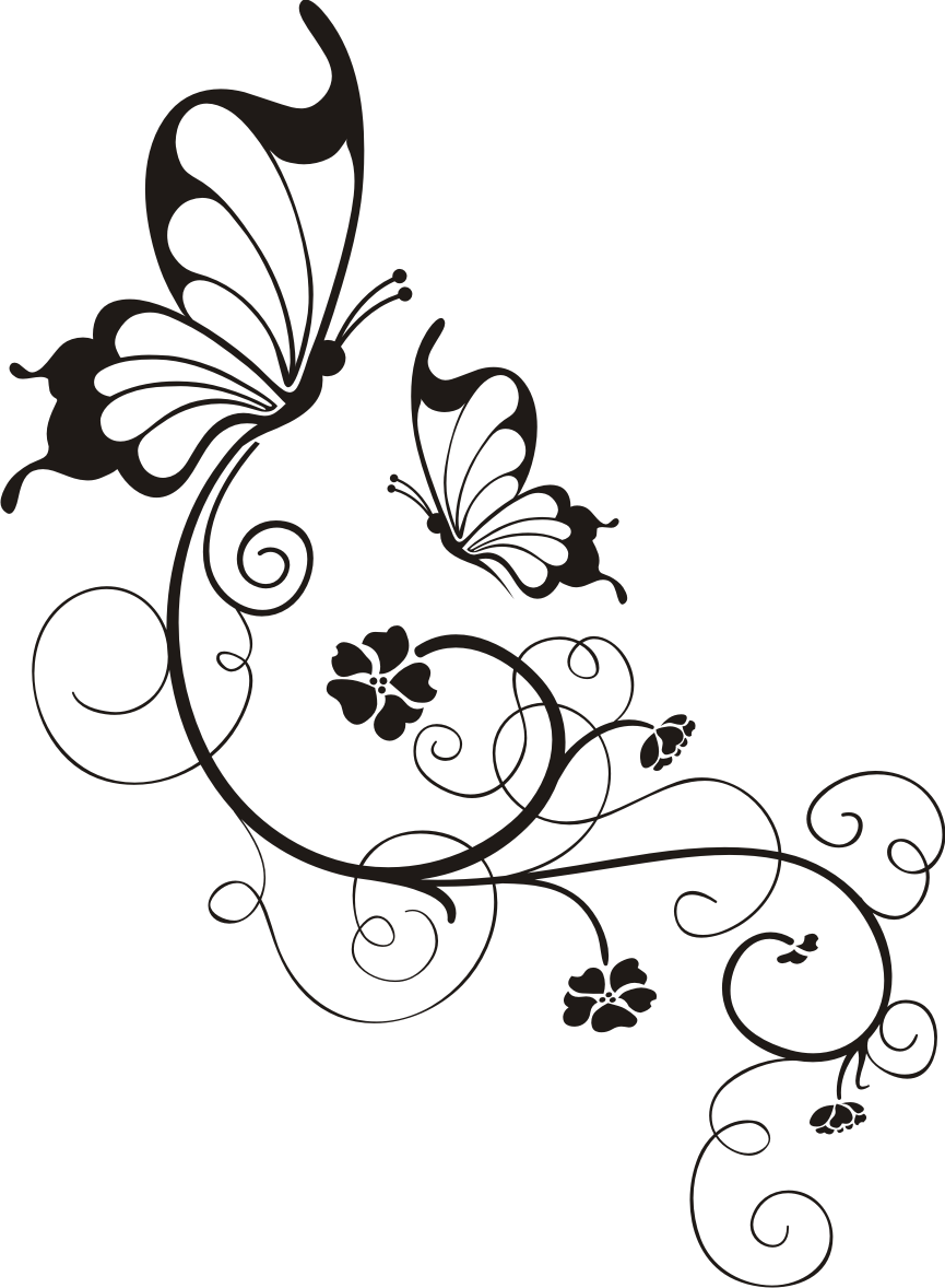Schmetterling Mit Blumenornament Wandtattoo Wandsticker Und Wandaufkleber Deine Wandtattoos De Wood Burning Patterns Stencil Patterns Art