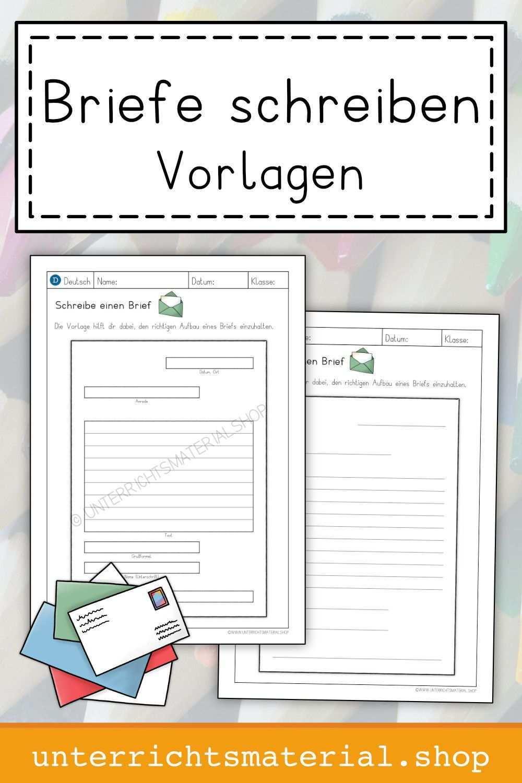 Briefe Schreiben Vorlagen Briefe Schreiben Briefe Lesen Lernen