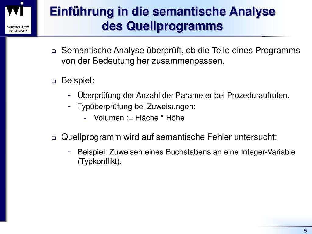 Ppt Semantische Analyse Und Attributierte Grammatiken Powerpoint Presentation Id 7012588