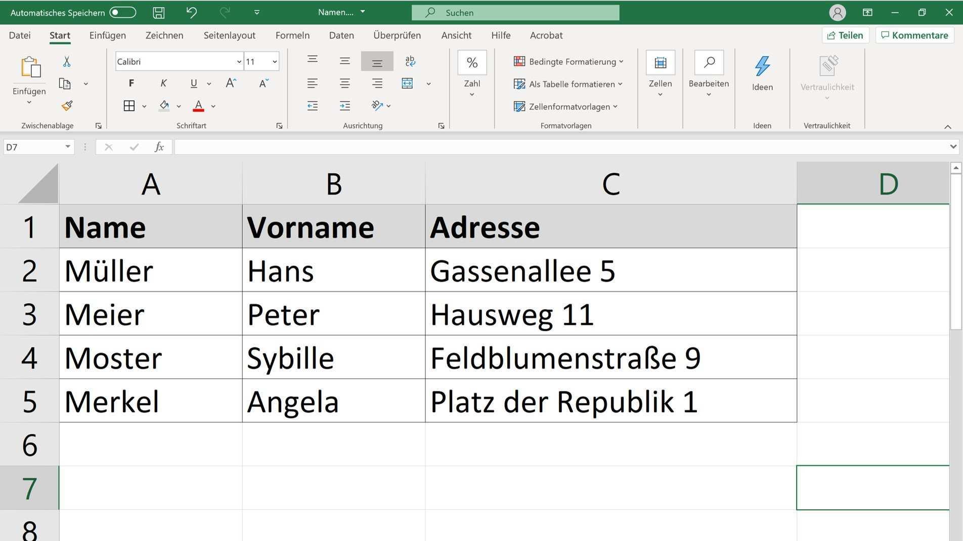 Mit Excel Und Word Einen Serienbrief Erstellen Chip