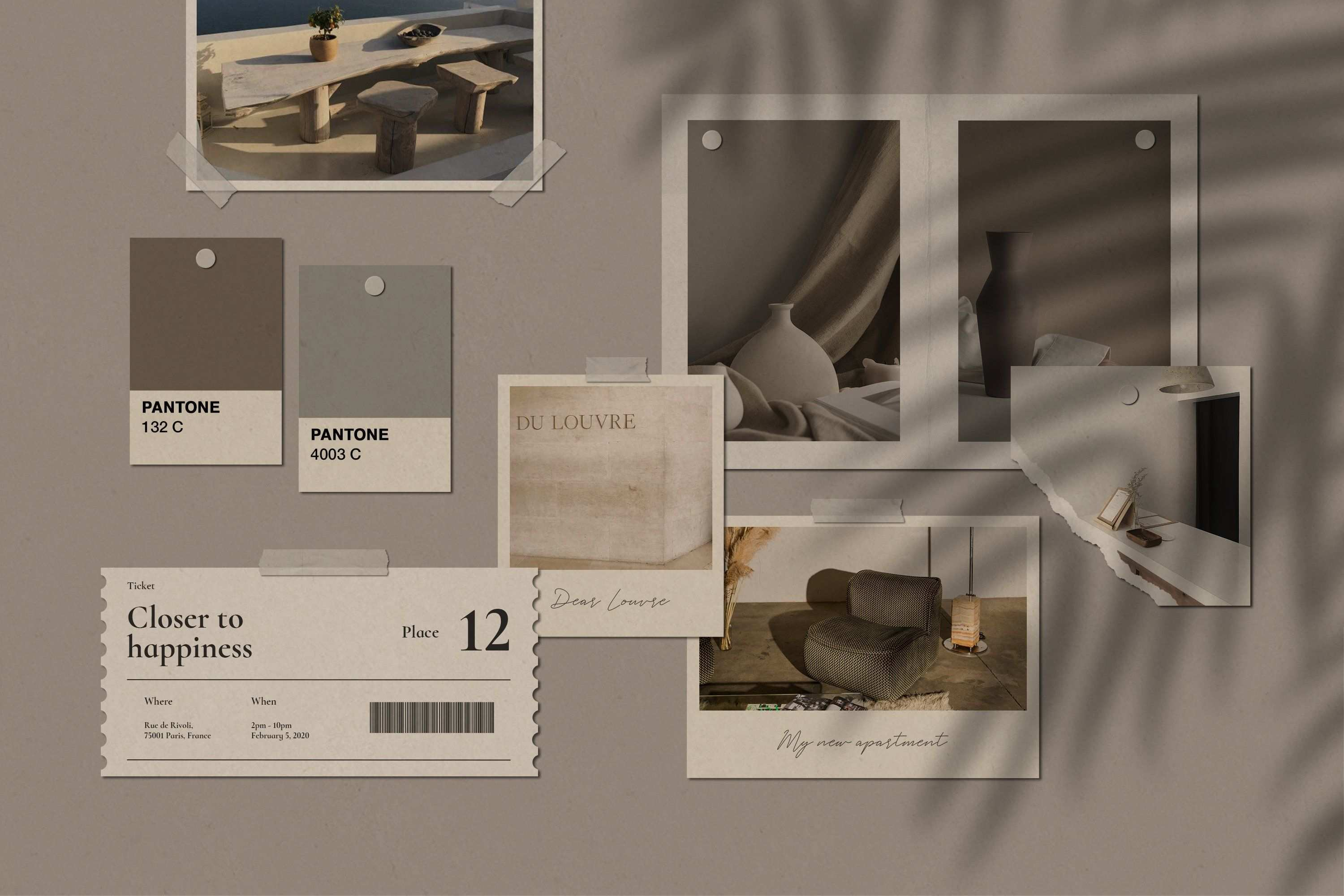 Realistic Mood Board Mockups Psd In 2020 Aesthetic Desktop Wallpaper Cute Desktop Wallpaper Wallpaper Pc