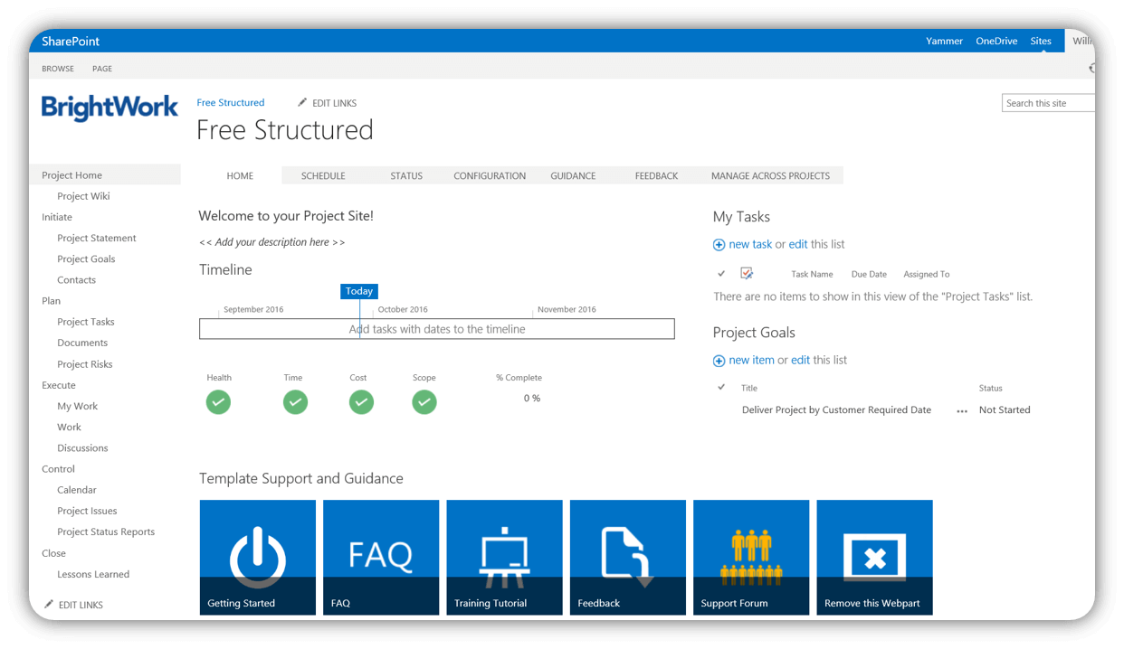 Free Sharepoint Project Management Templates Project Management Templates Sharepoint Project Management