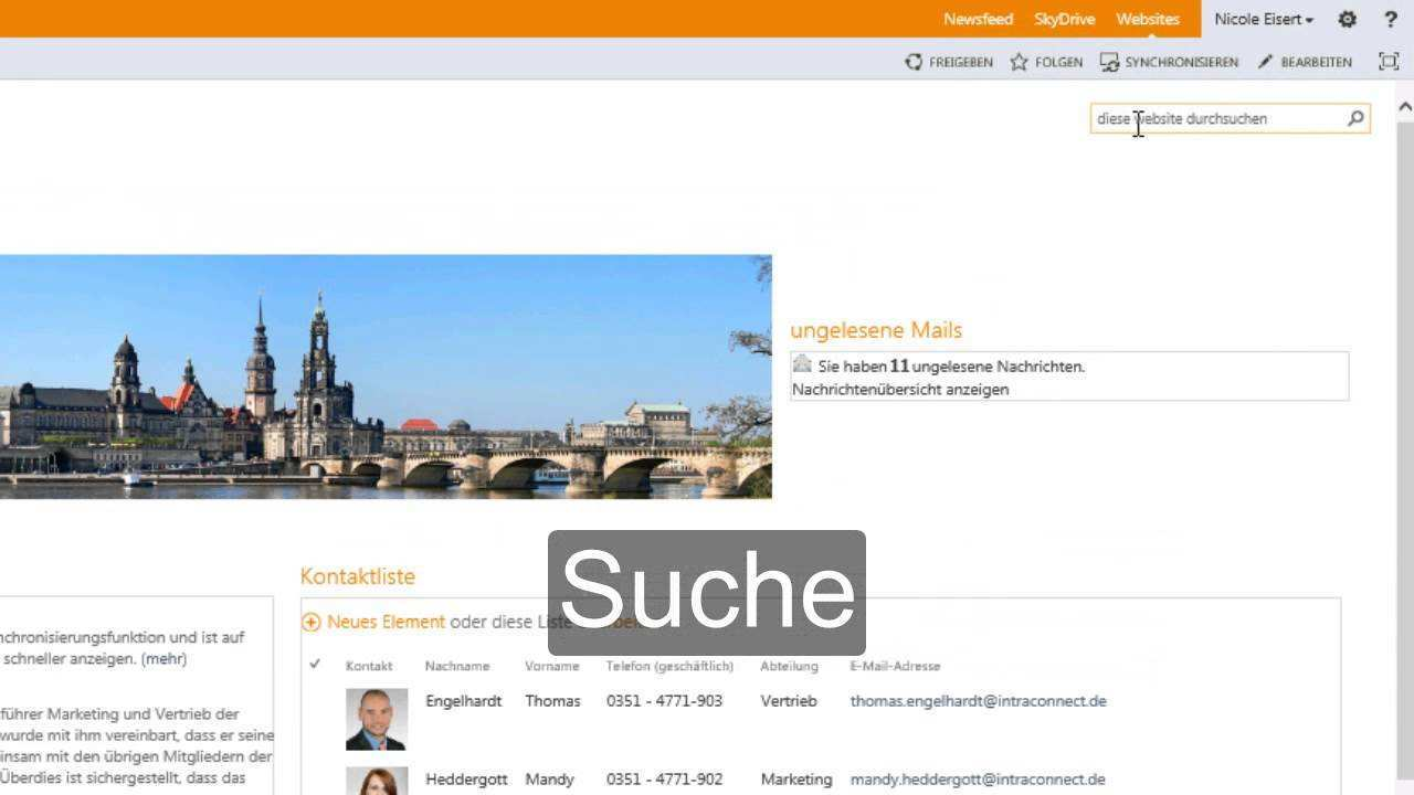 Intranet Mit Sharepoint Youtube