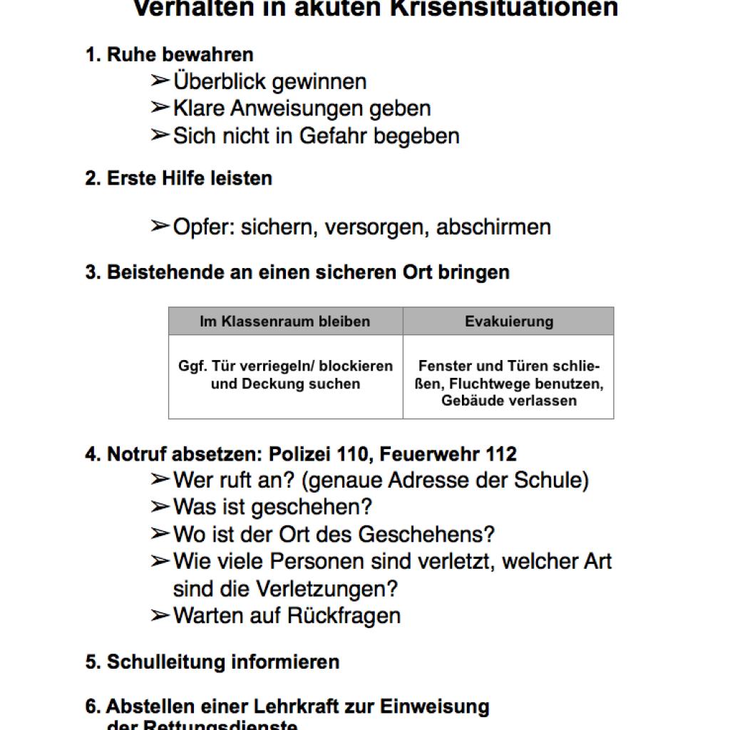 Sicherheitskonzept Marion Donhoff Schule Wilhelmshaven