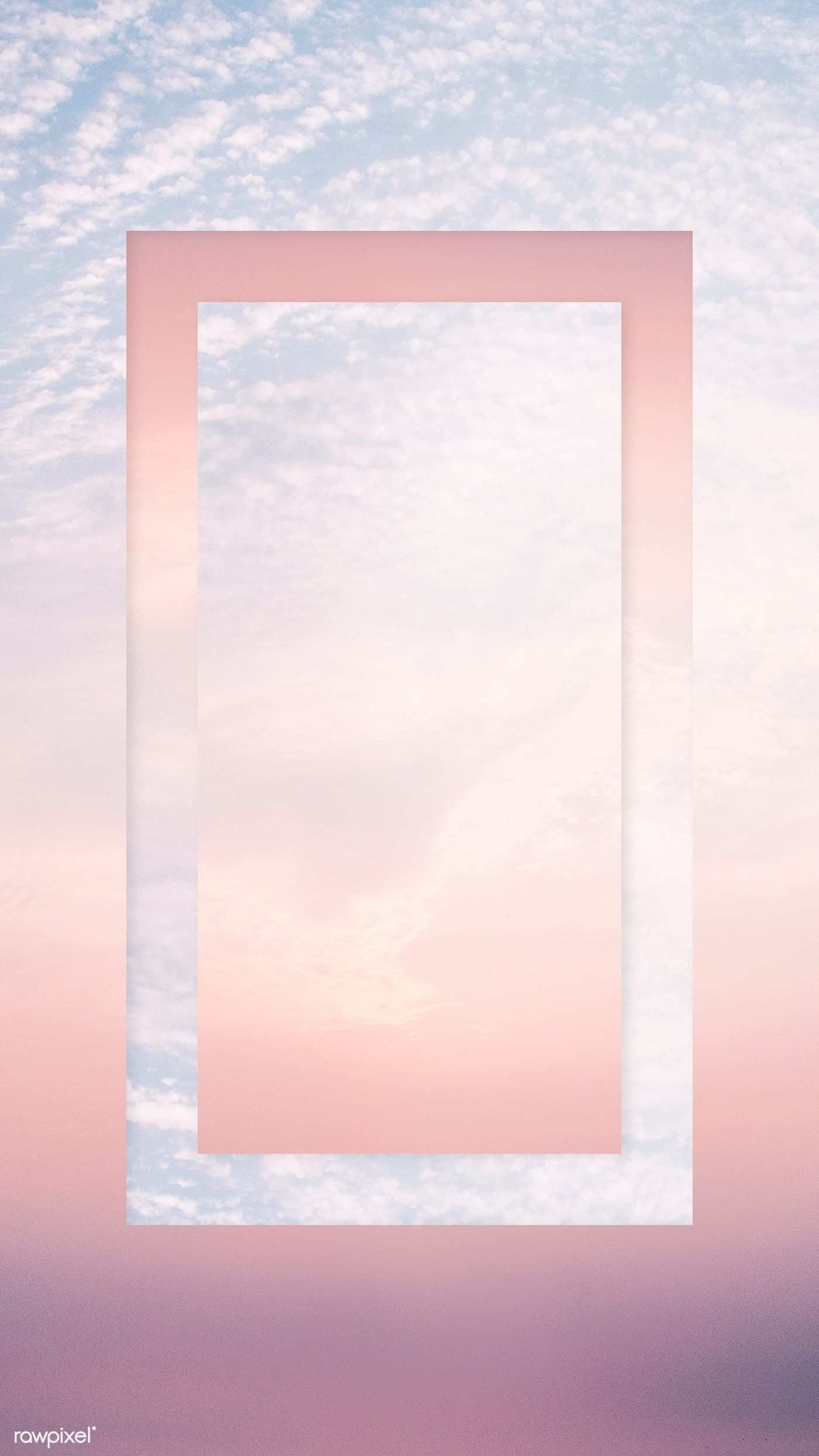 Download Premium Psd Of Cotton Candy Sky With A Rectangle Frame Mobile Cotton Candy Sky Wallpaper Phone Wallpaper