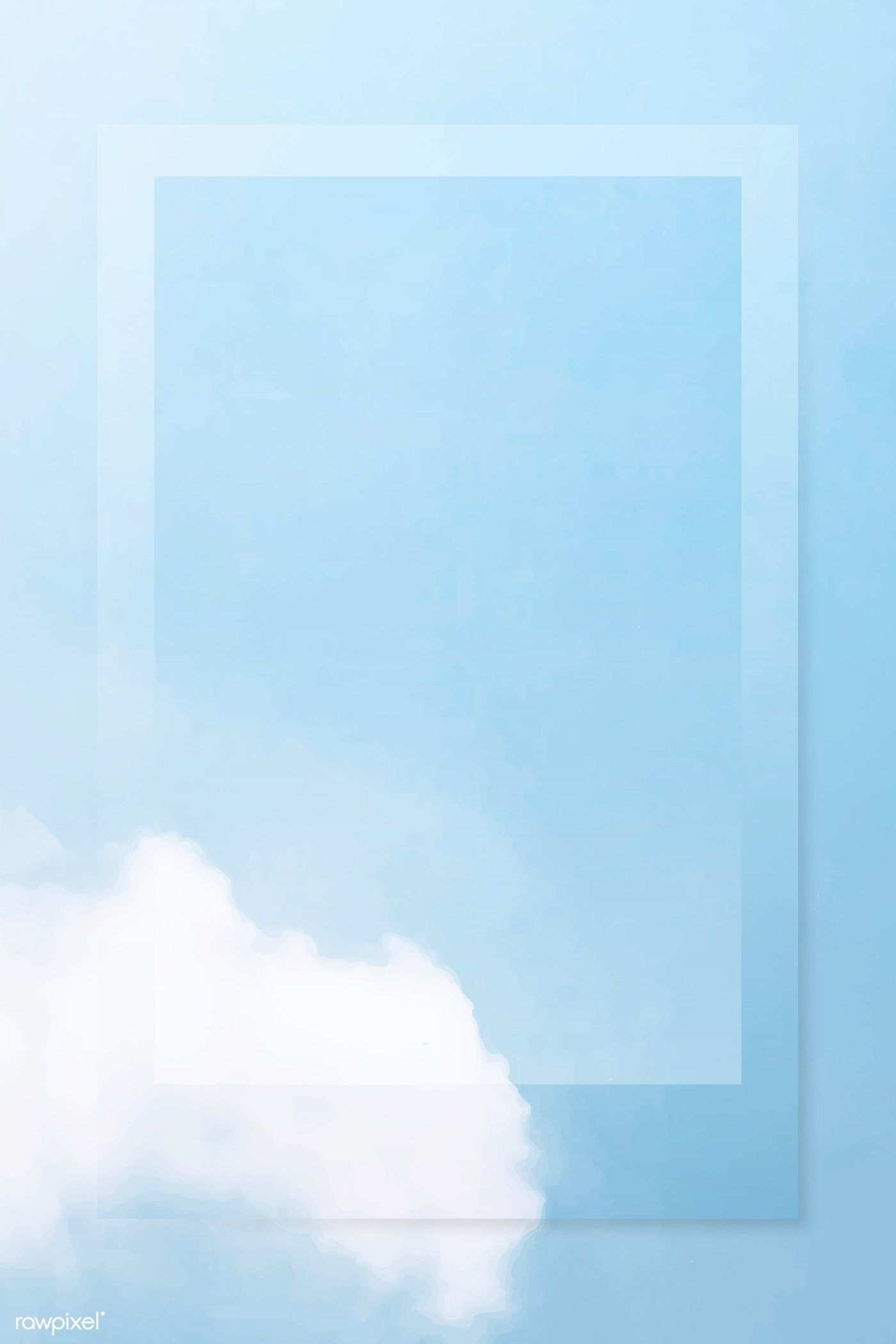 Frame On Cloudy Sky Vector Free Image By Rawpixel Com Kappy Kappy Background Design Vector Vector Free Blue Sky Background