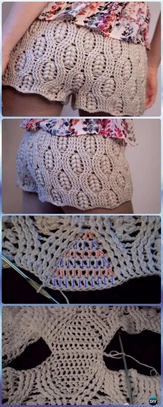Hakeln Sie Shorts Muster Hakeln Weizen Stich Sommer Shorts Kostenlose Muster Hakeln Und Crochet Crochet Hakeln K Hakeln Muster Hakeln Ideen Handarbeit