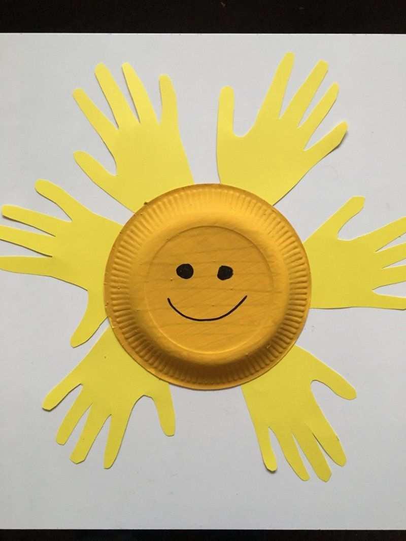 Eine Sonne Basteln Bastelideen Mit Dem Pappteller Sonne Basteln Basteln Mit Pappteller Basteln Mit Grundschulkindern Fruhling