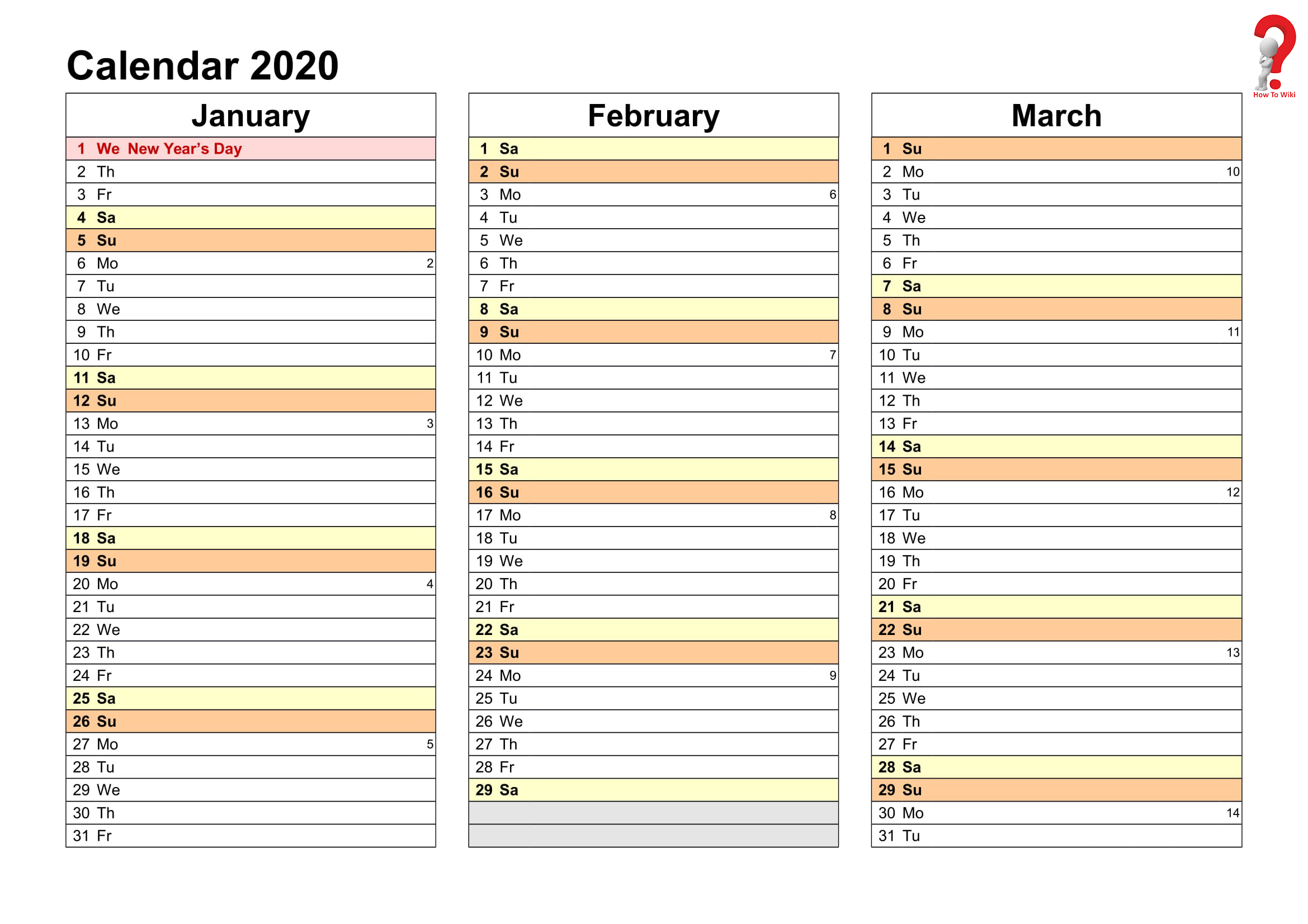 2019 And 2020 Yearly Planner In Excel Free Printable Calendar Templates Monthly Calendar Template Excel Calendar Template