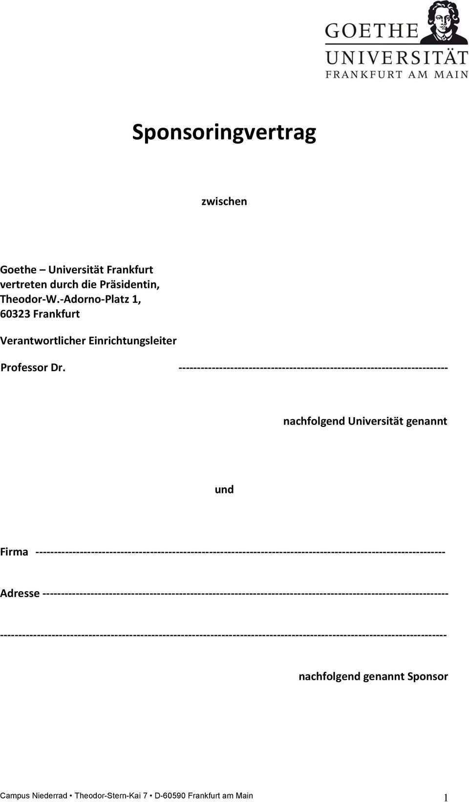 Sponsoringvertrag Zwischen Pdf Kostenfreier Download