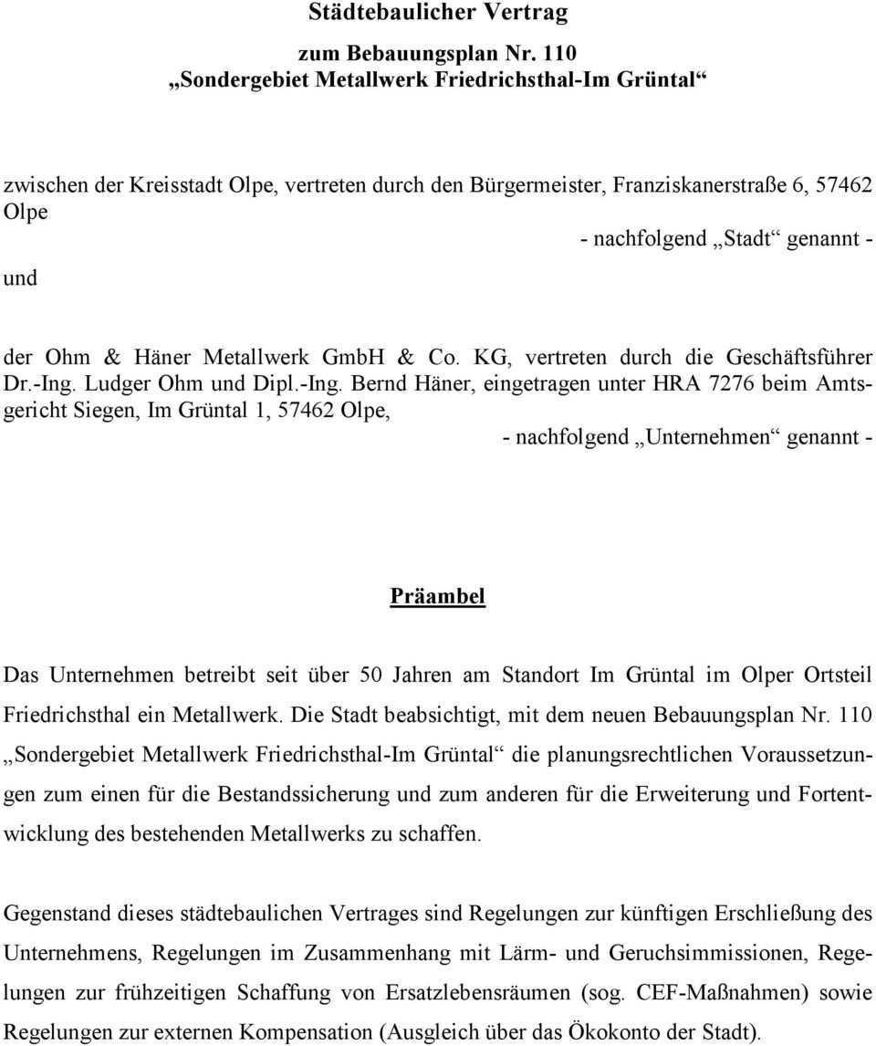 Stadtebaulicher Vertrag Pdf Kostenfreier Download