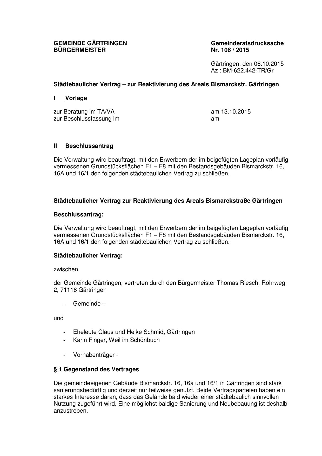 Gemeinde Gartringen Burgermeister