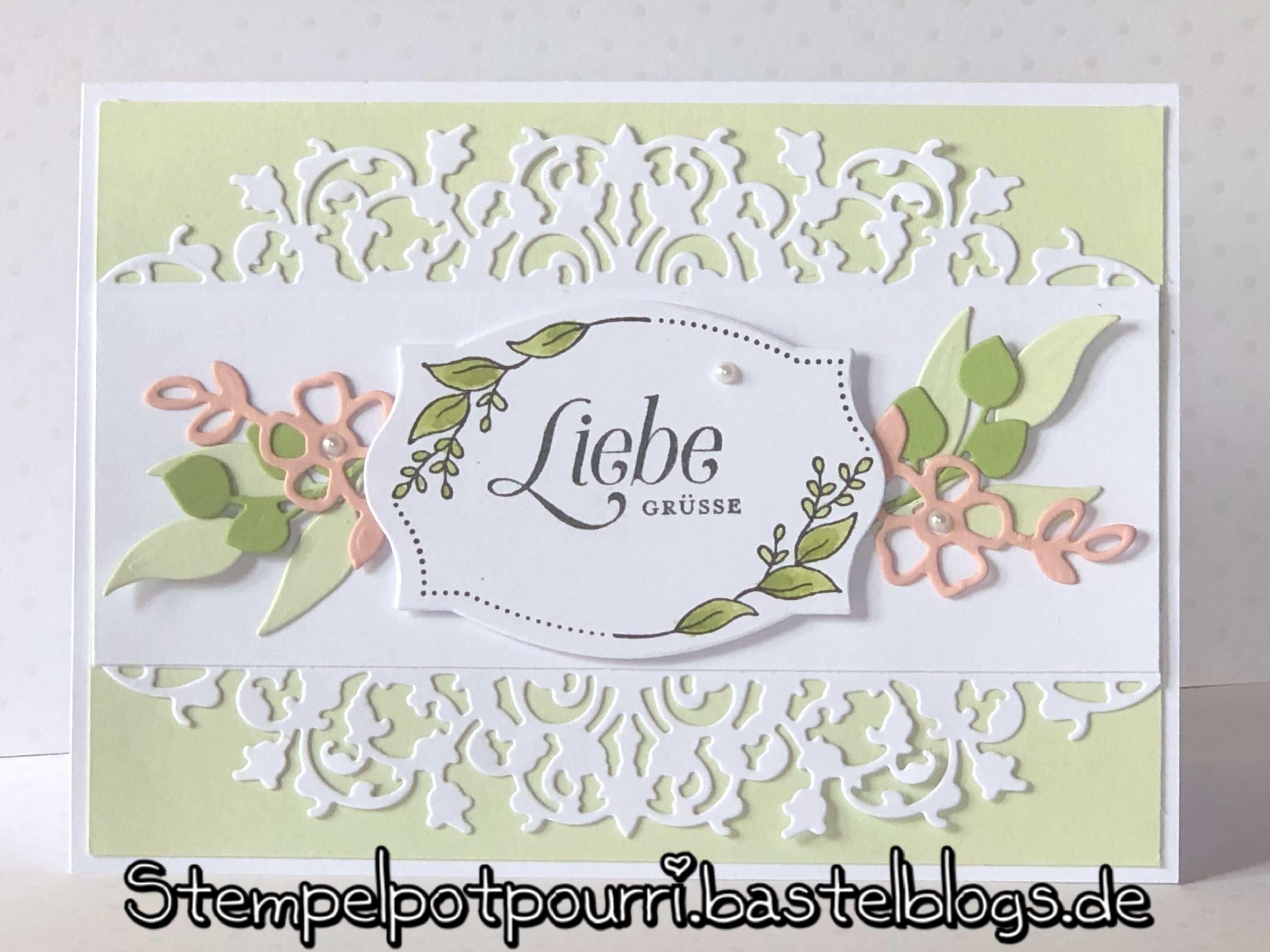 Stampin Up Edgelits Feine Spitze Stempelpotpourri Bastelblogs De Geburtstag Karte Geburtstagskarte Karten Basteln